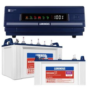 Luminous Inverter 2250 with RC 15000 120AH Double Battery Combo