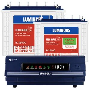 Luminous 2250 Inverter with 150AH Double Battery
