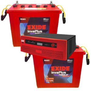 Exide 1450VA Inverter With Exide 150AH IPTT 1500 Double Combo
