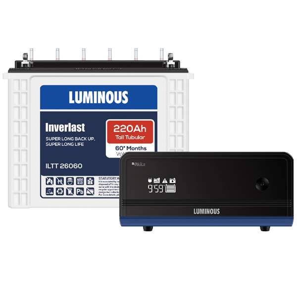 Luminous Zelio 1100+220AH Inverter battery Combo