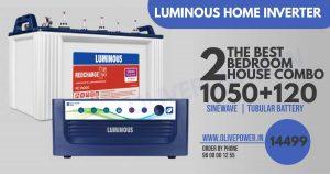 luminous inverter battery combo