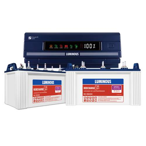 Luminous 2250 Inverter with 120AH Double Battery Combo