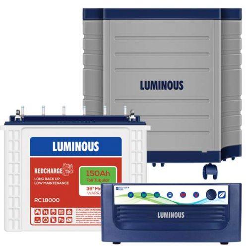 Luminous Inverter 1050+150AH battery with Luminous Trolly Combo