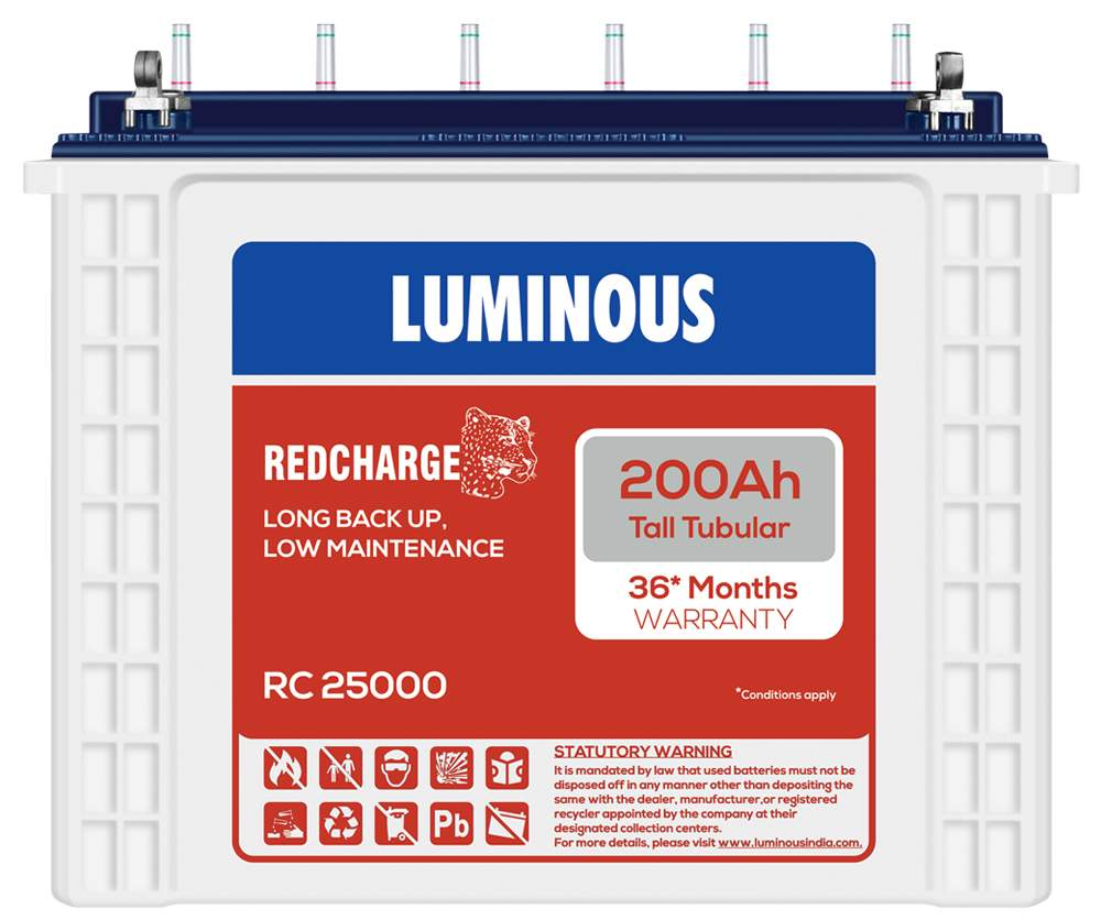 luminous RC 25000 200AH large