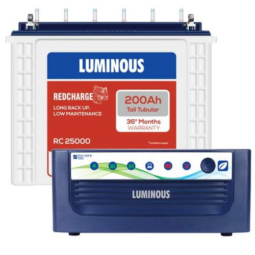 Luminous Eco Volt 1050+200AH Inverter battery Combo