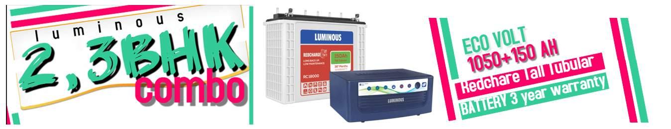 luminous inverter 2 and 3 bhk combo