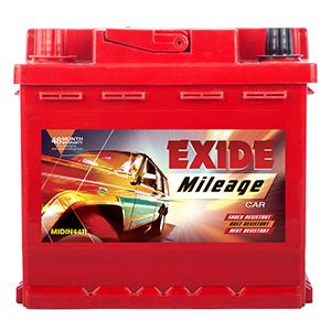 Exide Mileage Red MREDDIN44R 44ah Car Battery