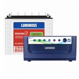 Luminous Inverter Battery Combo Eco Volt 1550+Redcharge RC 18000 150AH