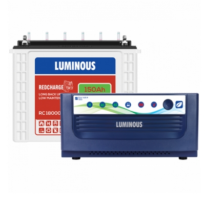 Luminous Inverter Battery Combo Eco Volt 1550+Redcharge RC 18000 150AH