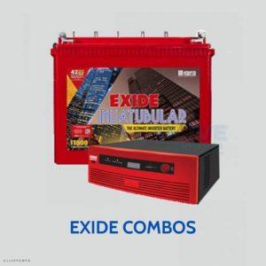 Exide inverter battery combos