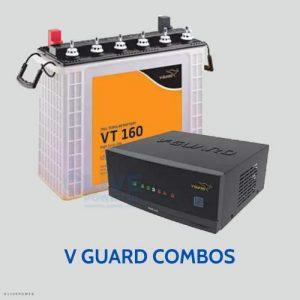 V guard inverter battery combos